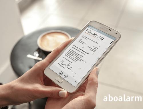 Aboalarm App. Abos kündigen in weniger als 3 Minuten.